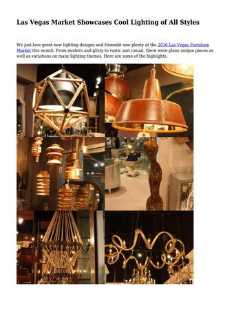 Page 1 las vegas market showcases cool lighting of all styles