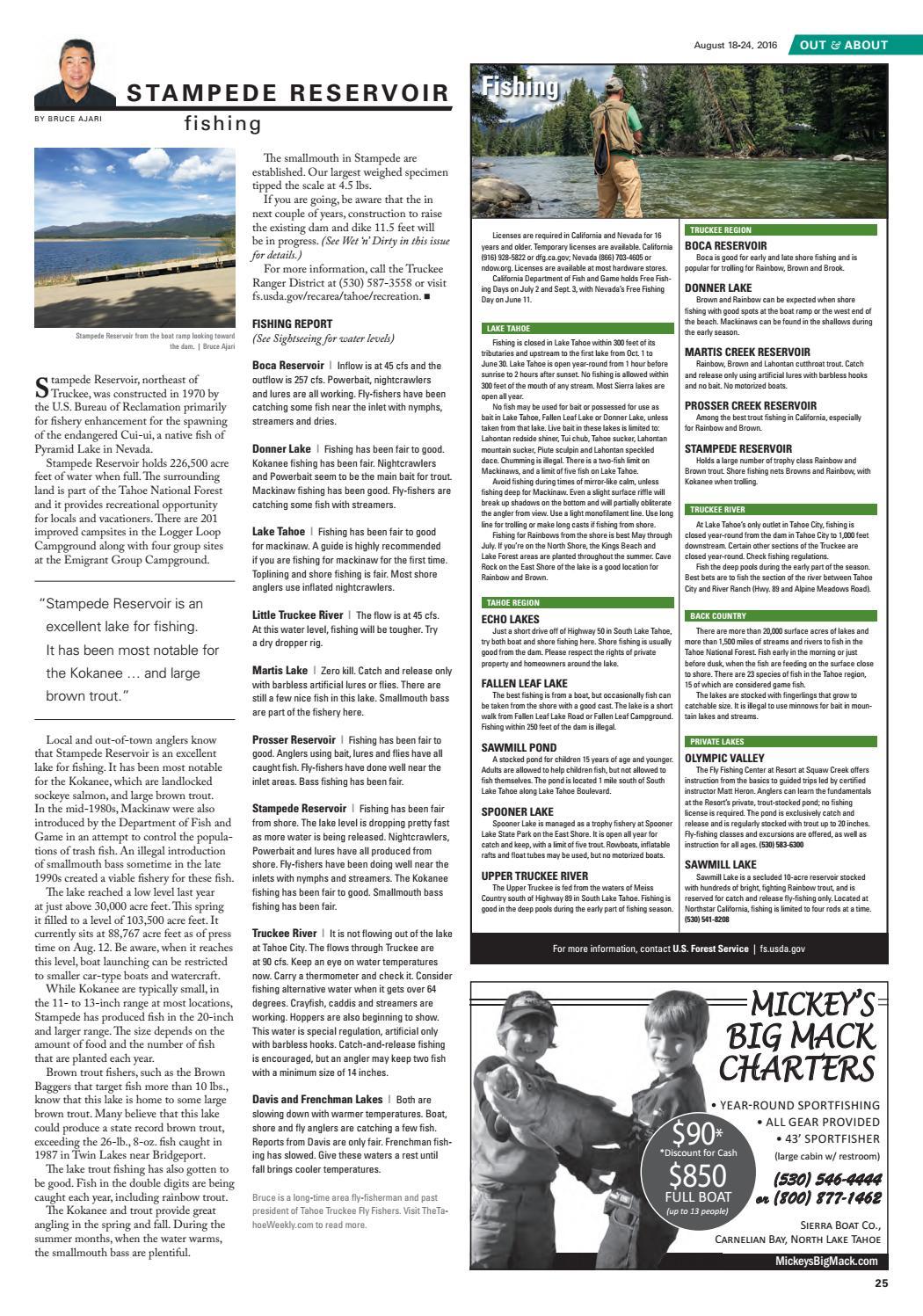Aug  18-24, 2016 by Tahoe Weekly - issuu