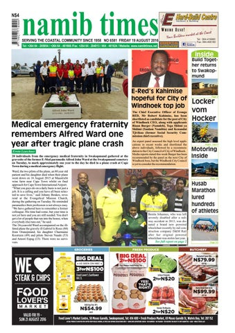 19 august namib times e edition  sc 1 st  Issuu & 24 april namib times e edition by Namib Times Virtual - issuu