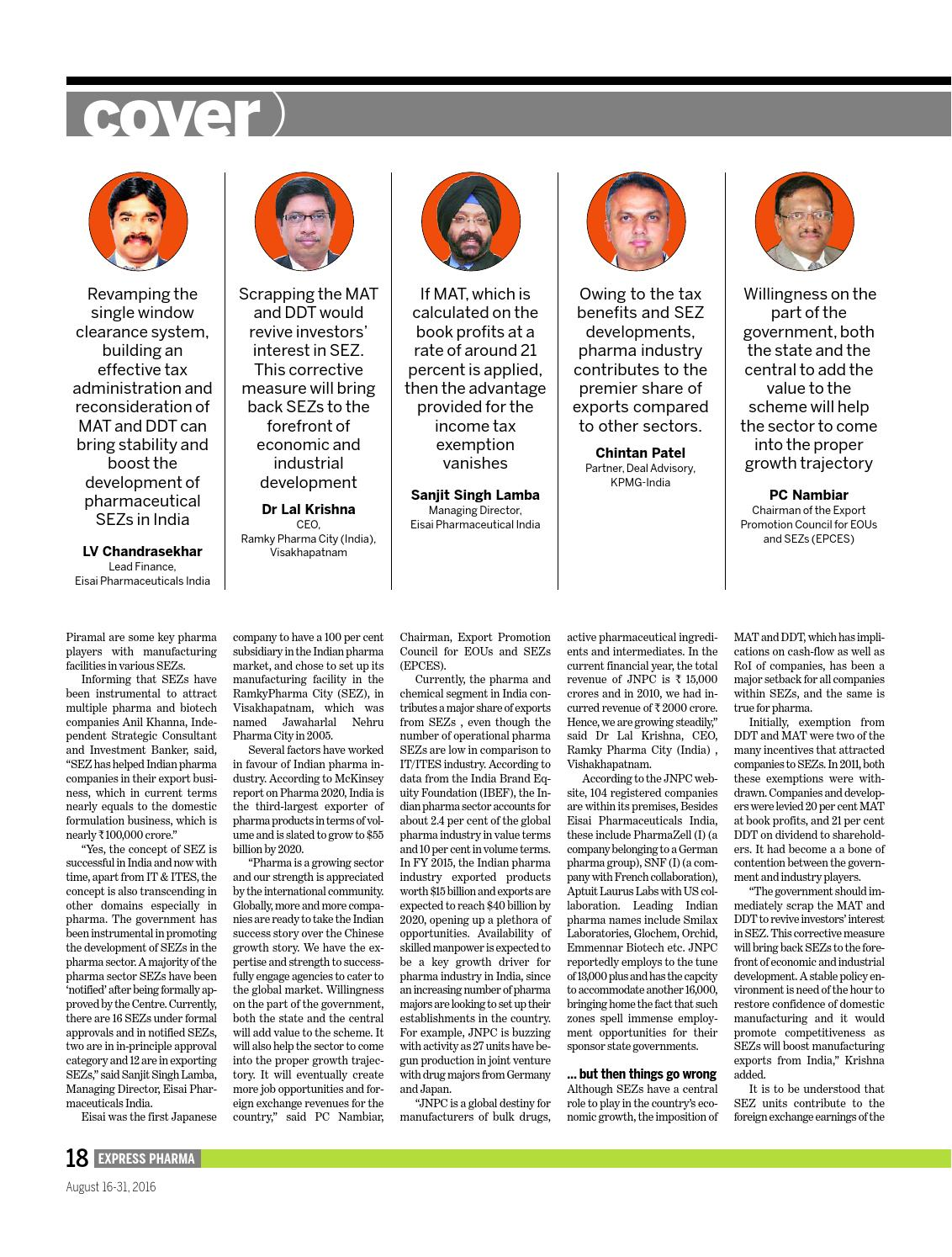 Express Pharma (Vol 11, No 20) August 16-31, 2016 by Indian Express