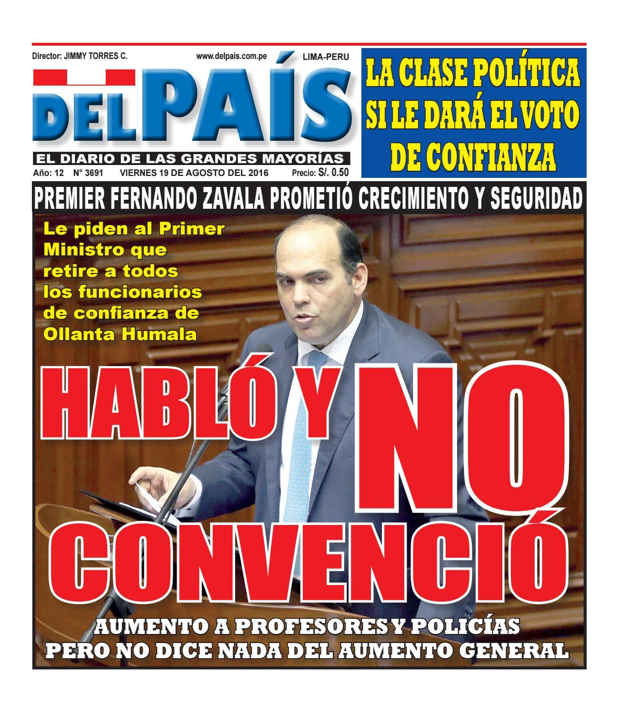 Edicion Impresa 19 De Agosto Del 2016 By Diario Del Pais El  # Muebles Ludena Chimbote