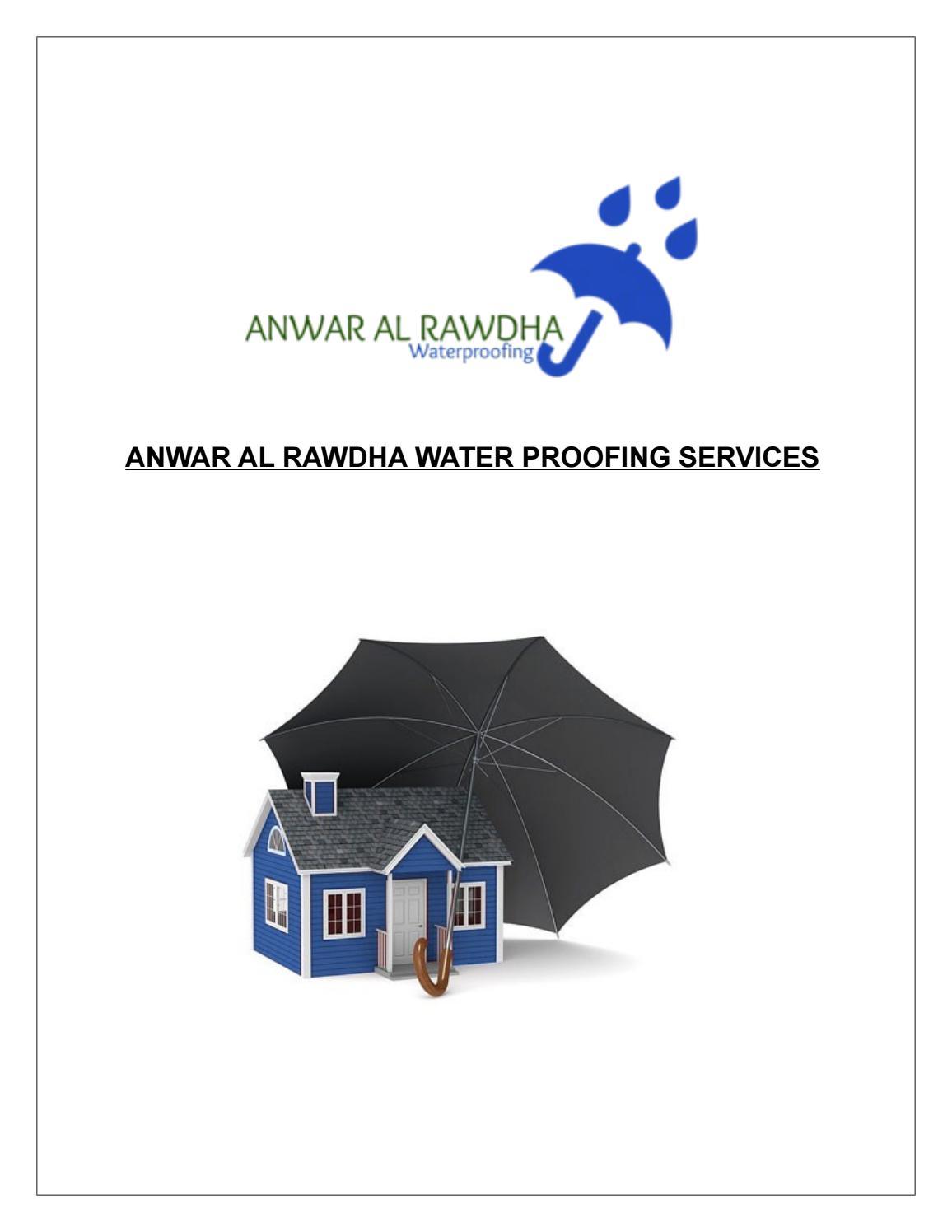 Best Waterproofing Services provider in UAE by ANWAR AL