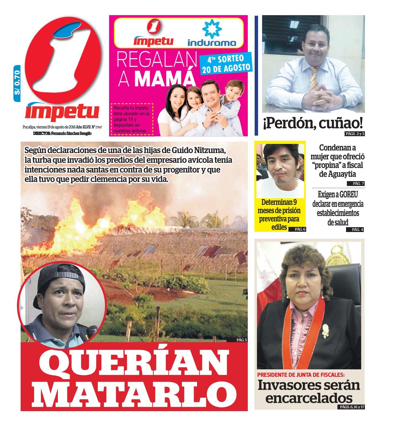 Impetu 19 de agosto de 2016 by Diario mpetu issuu