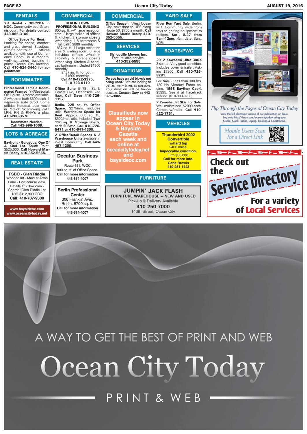 8/19/16 Ocean City Today by ocean city today - issuu