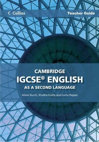 Cambridge IGCSE English As A Second Language Teacher Guide by ...