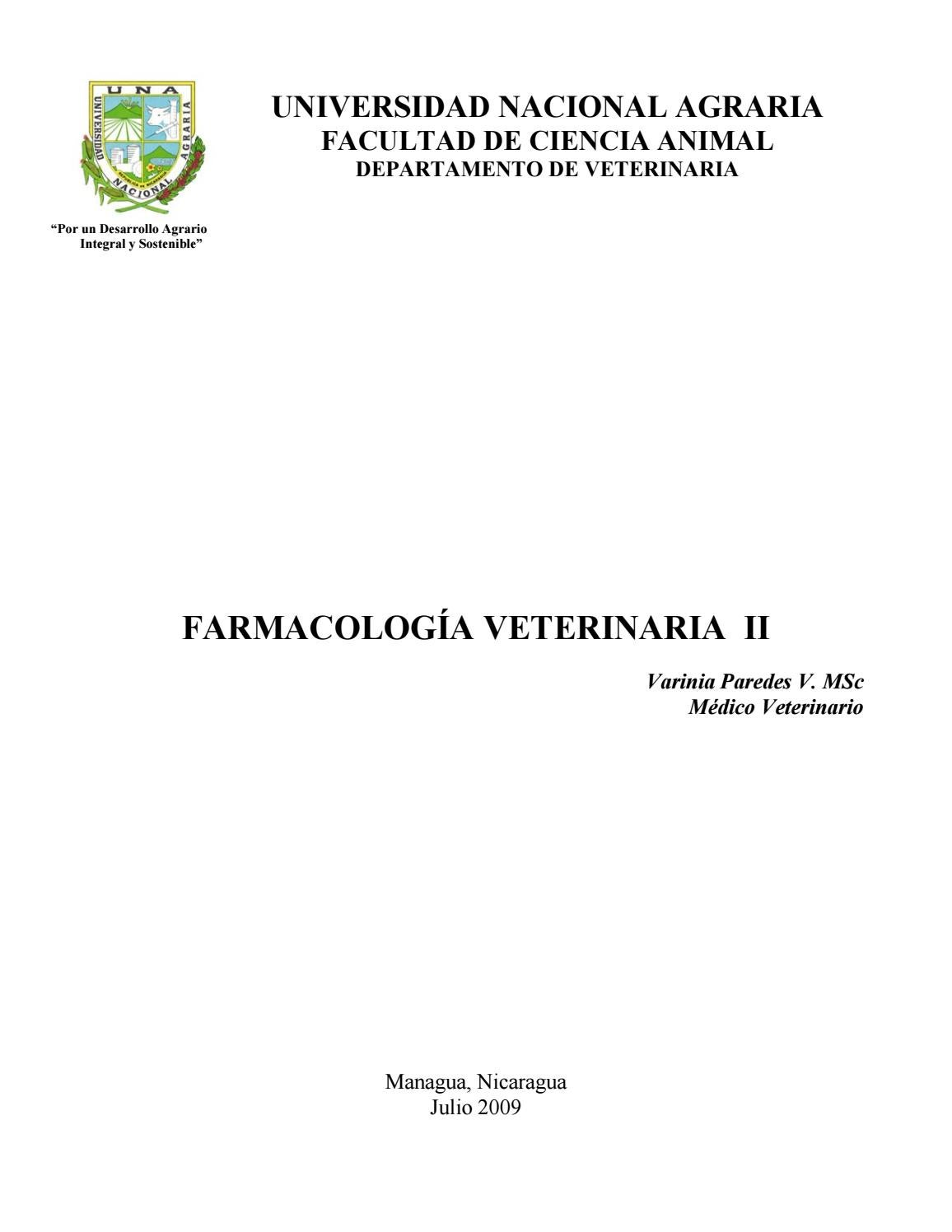 205108571 Farmacologia Veterinaria By Juanalmeida1991 Issuu