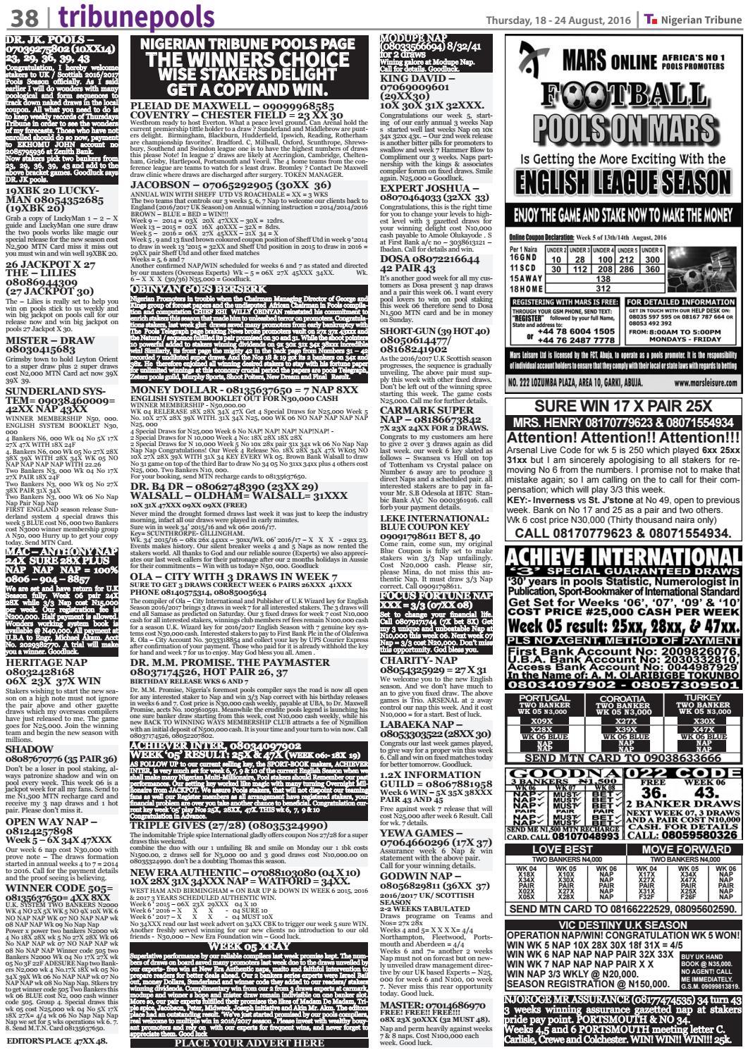 18th August 2016 by Nigerian Tribune - issuu
