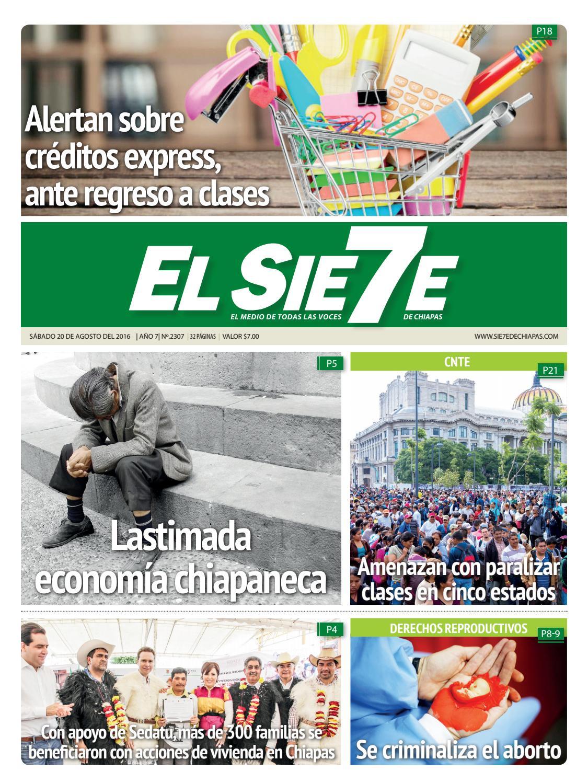 20/08/16 by El Sie7e de Chiapas - issuu