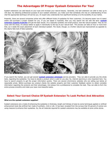 Eyelash Extension Supplies by Michael Piepers - issuu