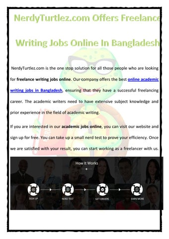 nerdy turtlez offers lance writing jobs online in  our company offers the best online academic writing jobs in ensuring that they