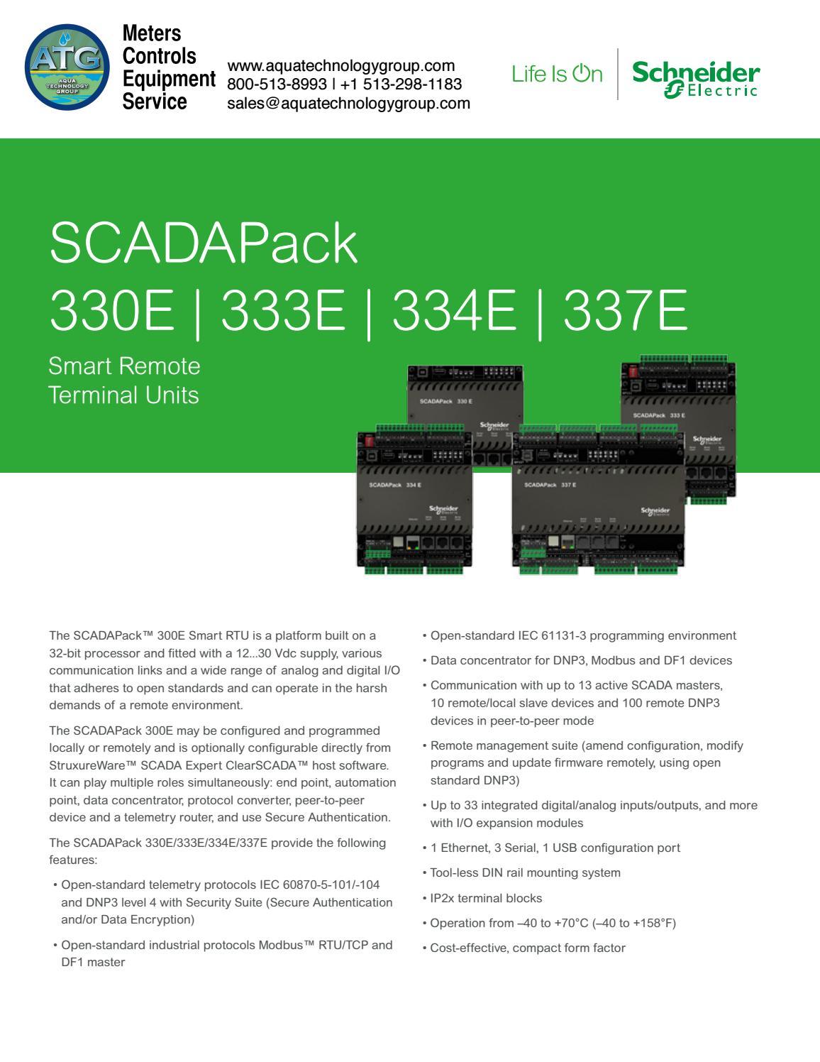 Scadapack 330e 333e 334e 337e e series datasheet by Aqua