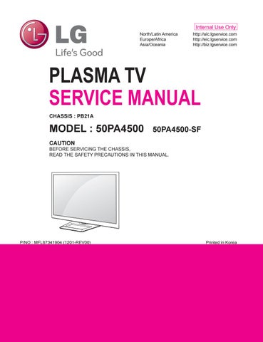 lg 50 plasma 720p manual