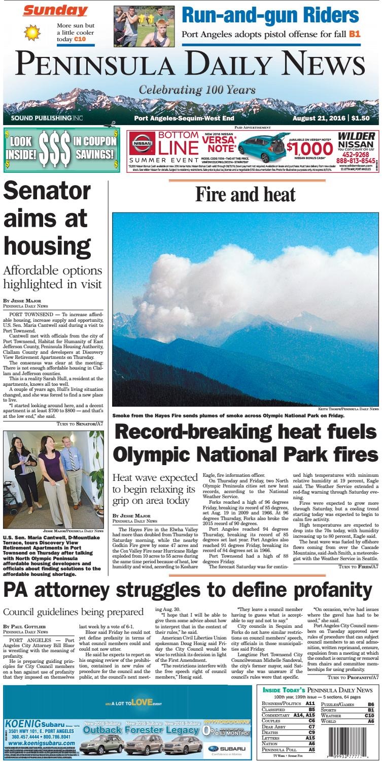 ea34e6d13c3c PDNN20160821C by Peninsula Daily News   Sequim Gazette - issuu