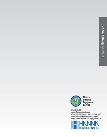 Hanna Instruments Catalog v30 by Aqua Technology Group - issuu