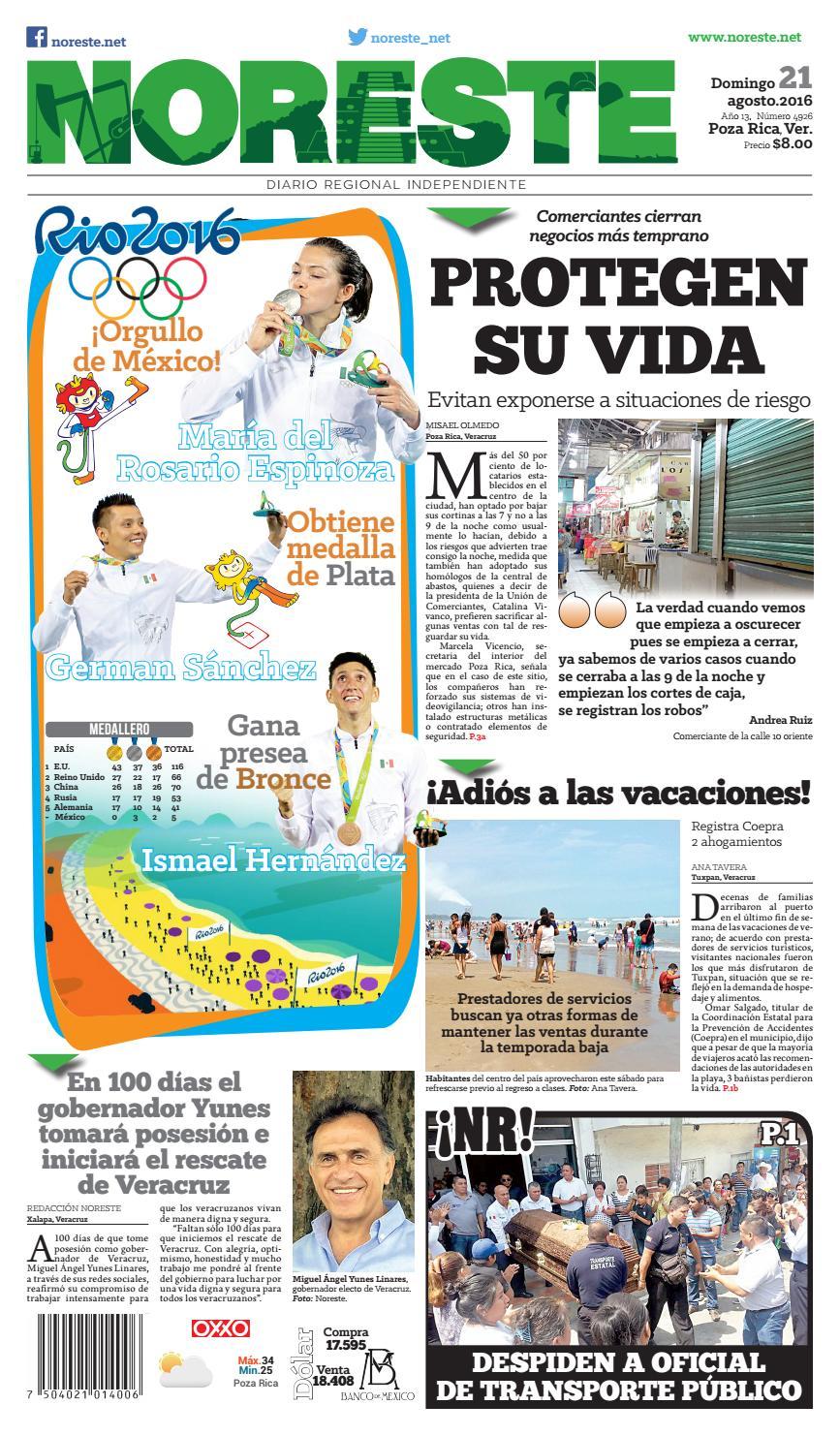 Versi N Impresa 21 De Agosto De 2016 By Noreste Diario Regional  # Cota Muebles Teziutlan