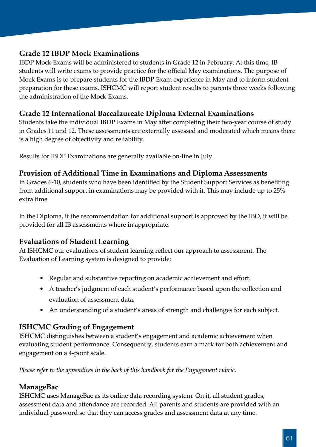 Secondary Student Parent Handbook 2016 - 2017 by ISHCMC - issuu