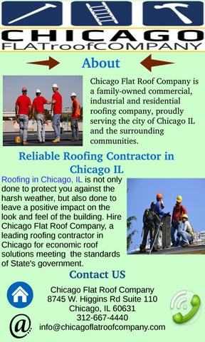 About Chicago Flat Roof Company Is A Familyowned Commercial, Industrial And  Residential Roofing Company, Proudly Serving The City Of Chicago IL And The  ...