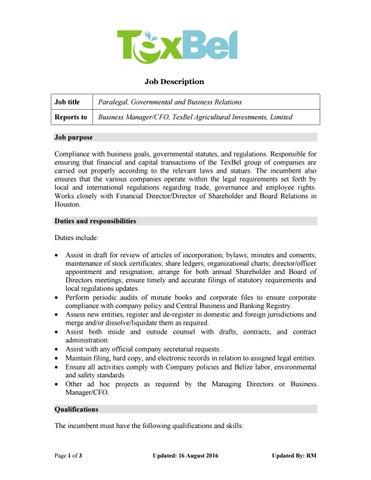 paralegal job responsibilities