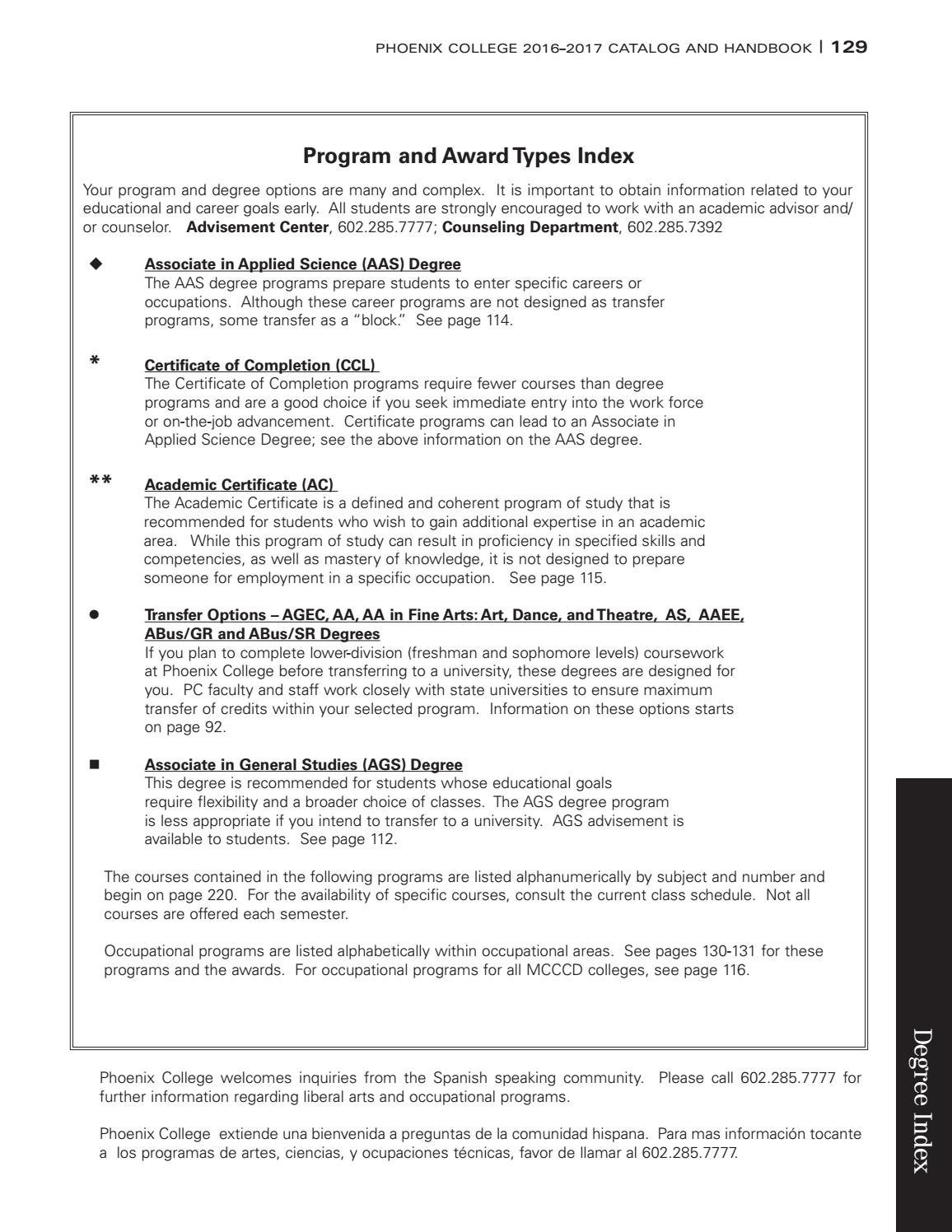 Phoenix college 2016 17 catalog handbook by the maricopa phoenix college 2016 17 catalog handbook by the maricopa community colleges issuu xflitez Choice Image