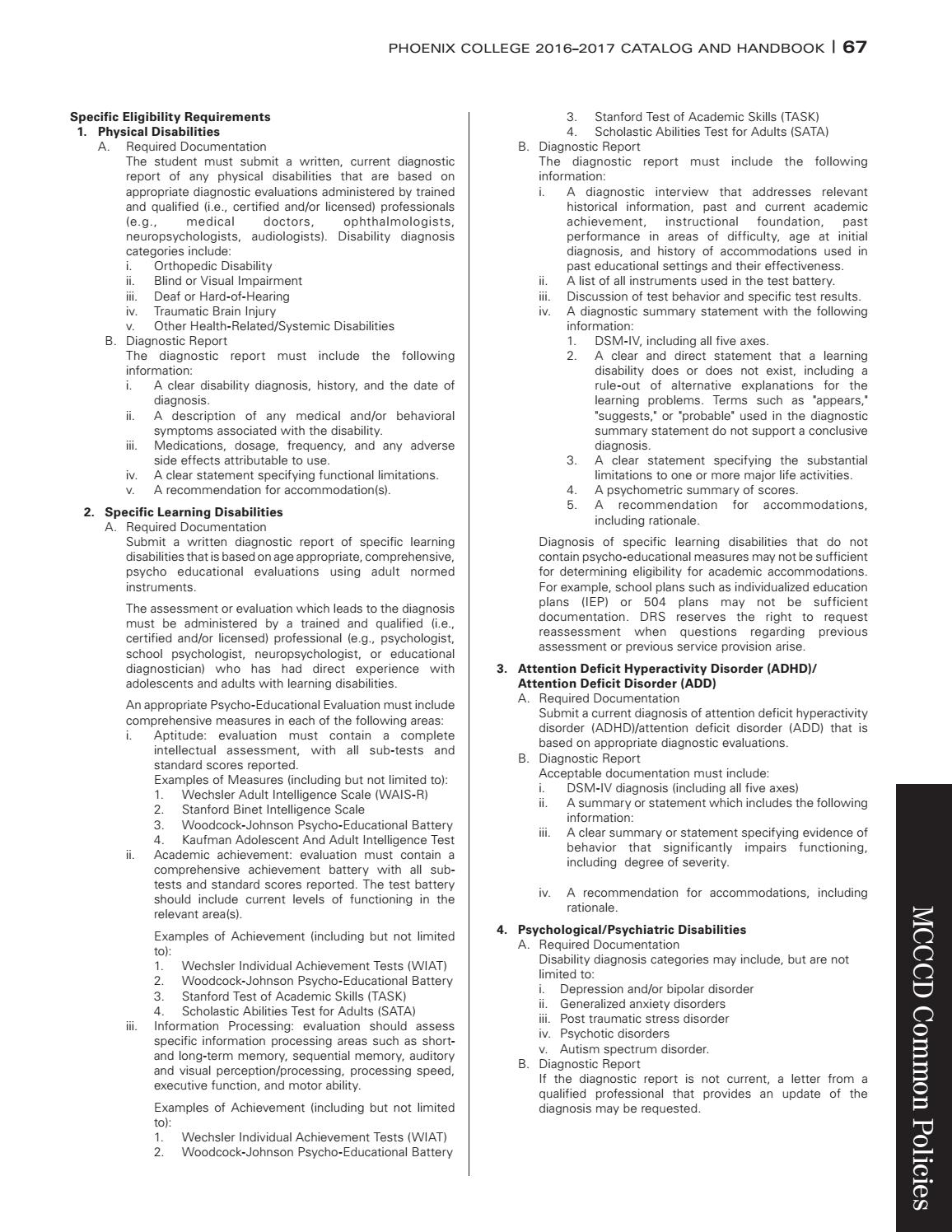 Phoenix College 2016 17 Catalog Handbook By The Maricopa Community