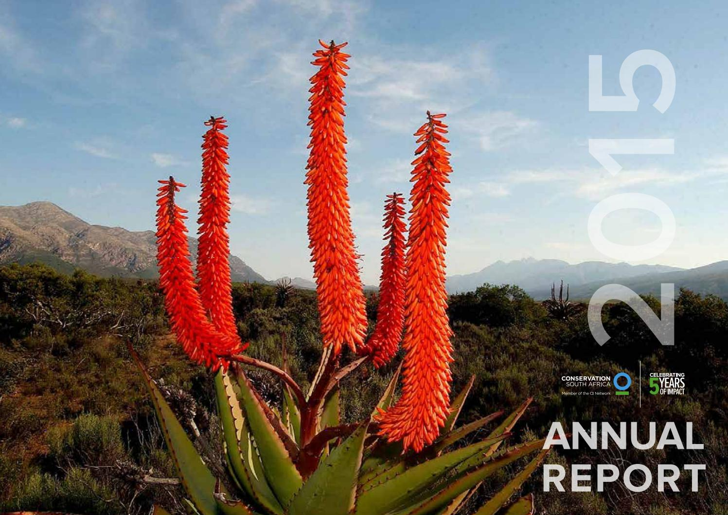 Conservation south africa annual report 2015 by Tessa
