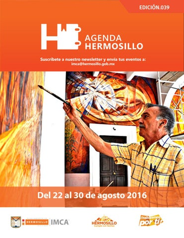 "Cover of ""Agenda Hermosillo 22 Agosto 2016"""
