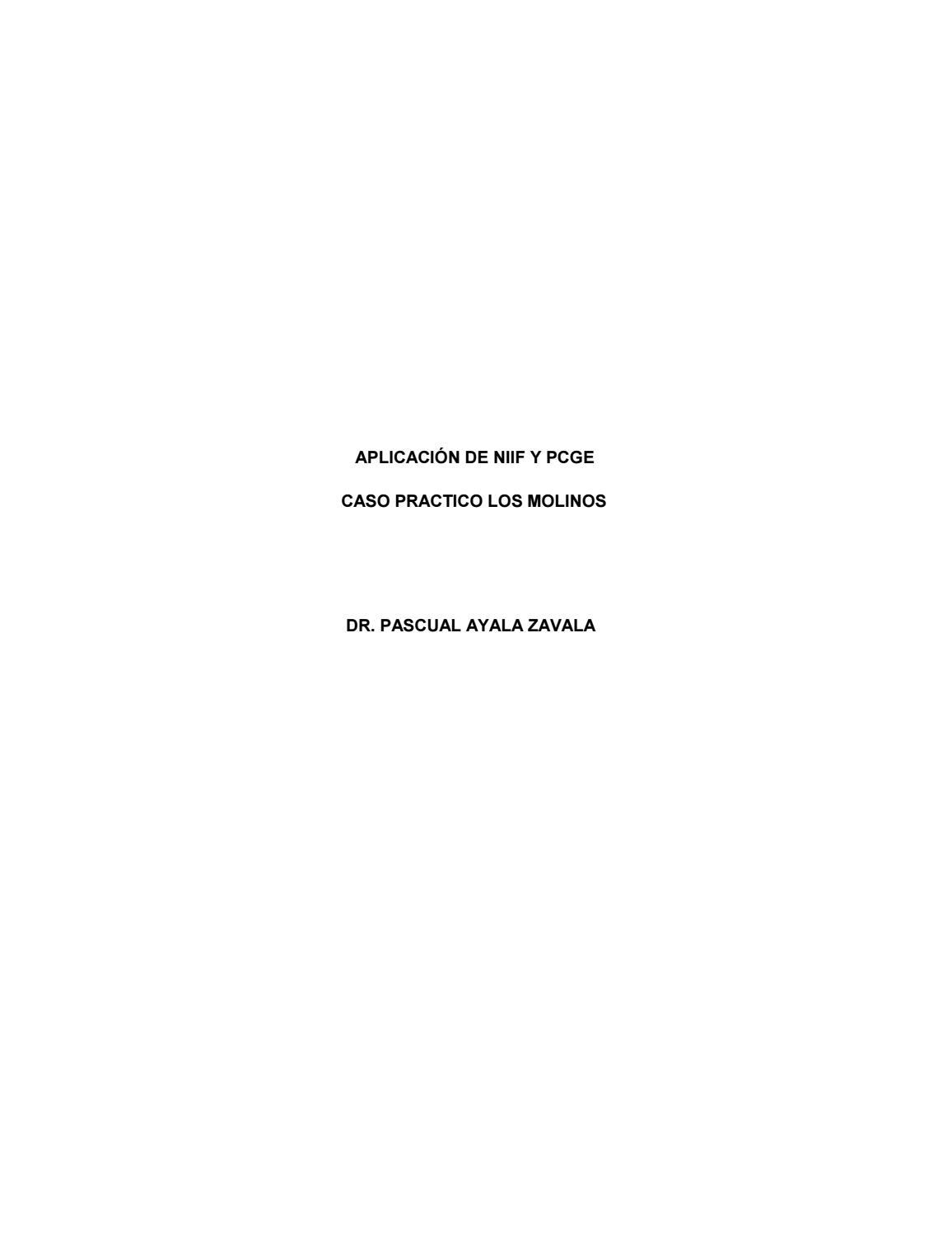 CASO PRACTICO EMPRESA COMERCIAL NIIF PCGE by Pascual Ayala - issuu