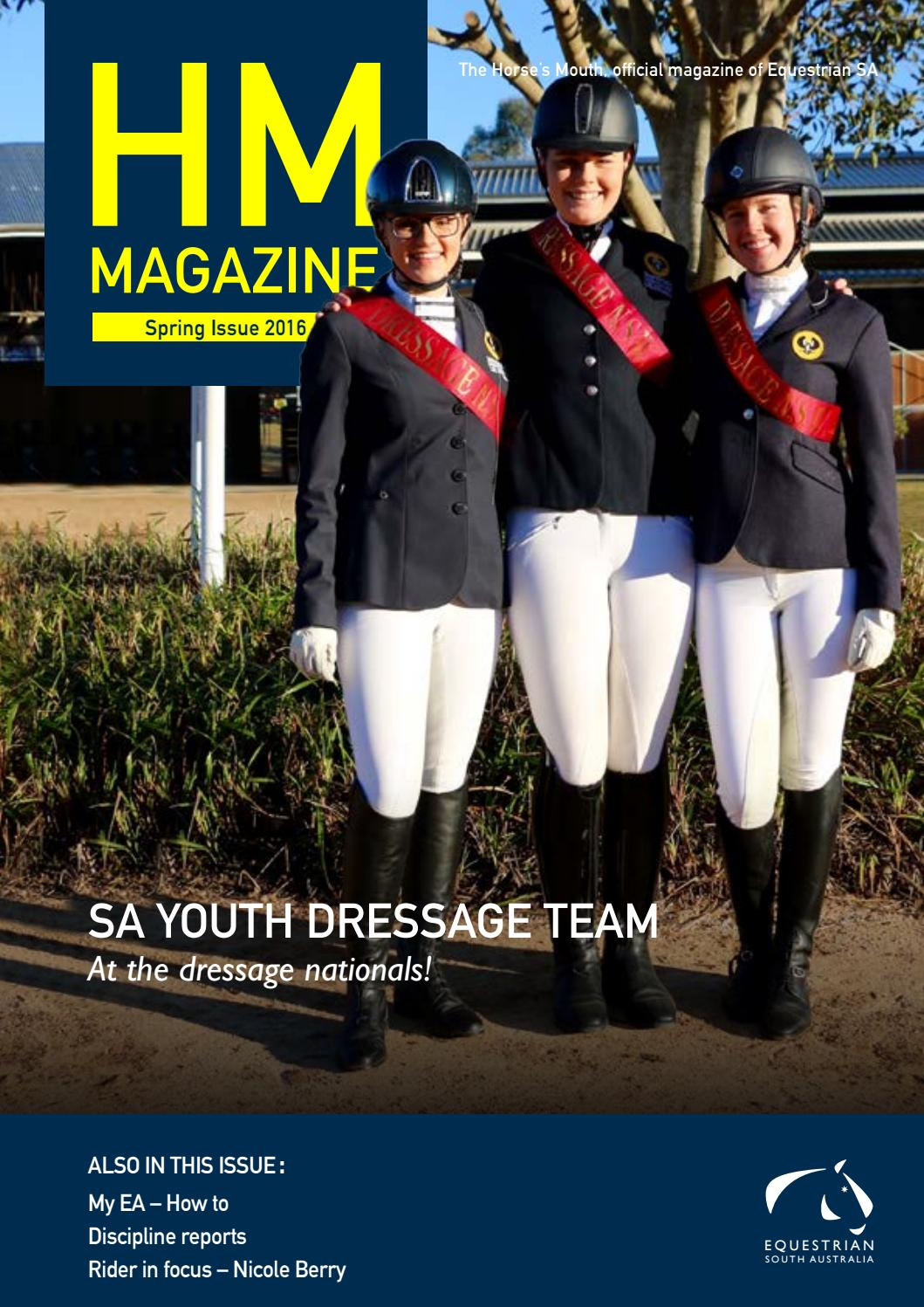 The Horses Mouth Spring Issue 2016 By Equestrian Sa Issuu