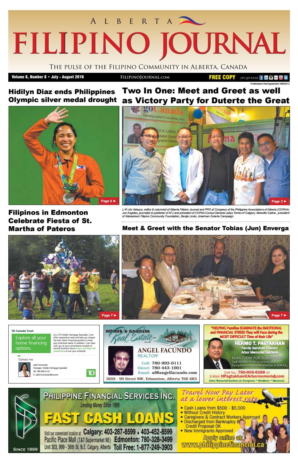 Filipino Journal Alberta Edition July - August 2016 by Filipino