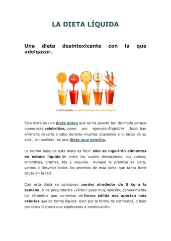 dieta liquida clara alimentos prohibidos