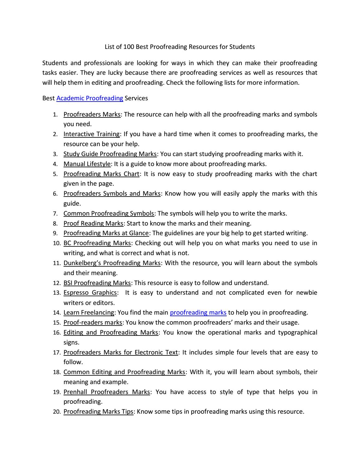 List of 100 best proofreading resources by academic proofreading list of 100 best proofreading resources by academic proofreading issuu biocorpaavc Choice Image