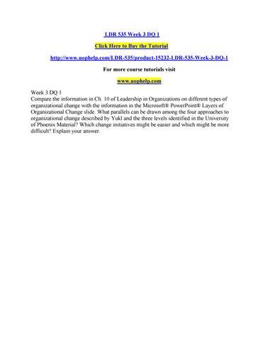 Ldr 535 week 3 dq 1 by HYMAVATHI35 - issuu