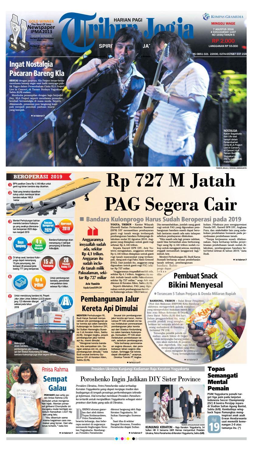 Tribunjogja 07 08 2016 By Tribun Jogja Issuu Produk Ukm Bumn Pusaka Coffee 15 Pcs Kopi Herbal Nusantara Free Ongkir Depok Ampamp Jakarta