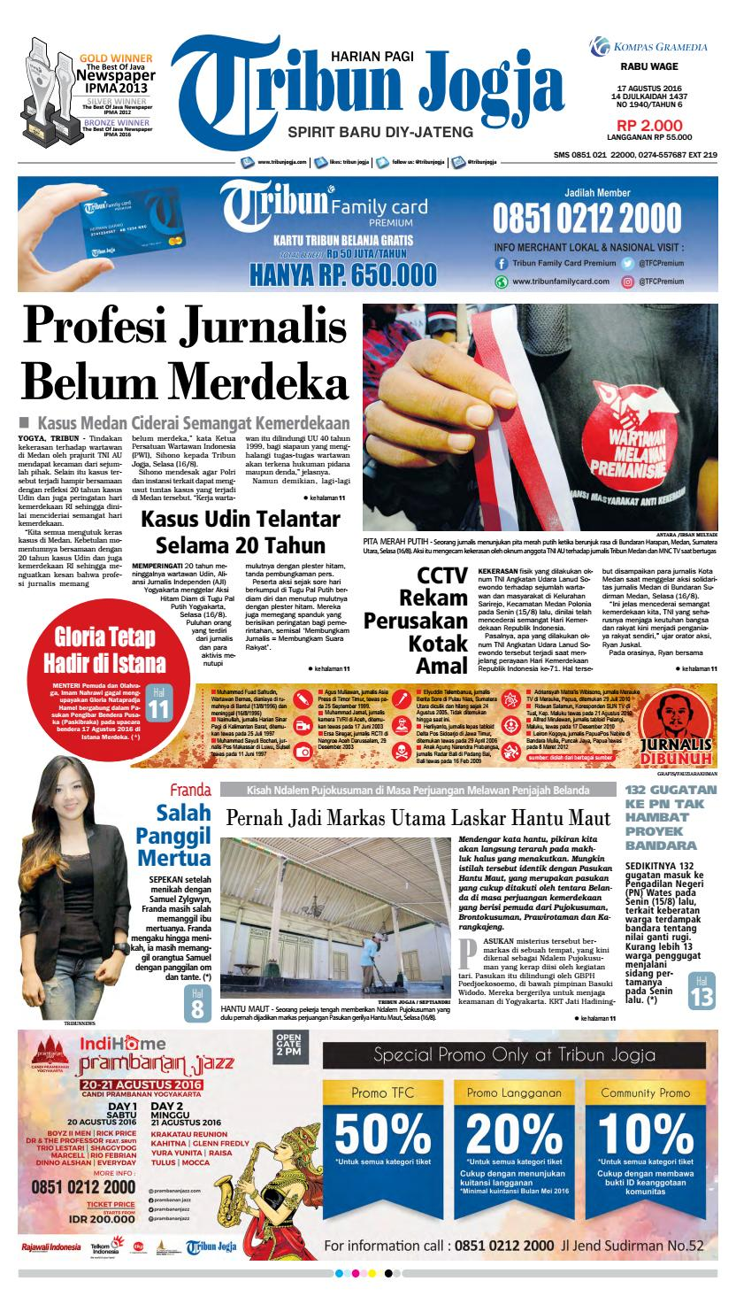Tribunjogja 17 08 2016 By Tribun Jogja Issuu Produk Umkm Bumn Kapal Batok Lebak