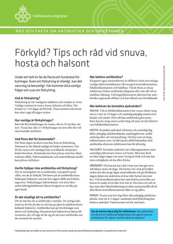 tips vid halsont