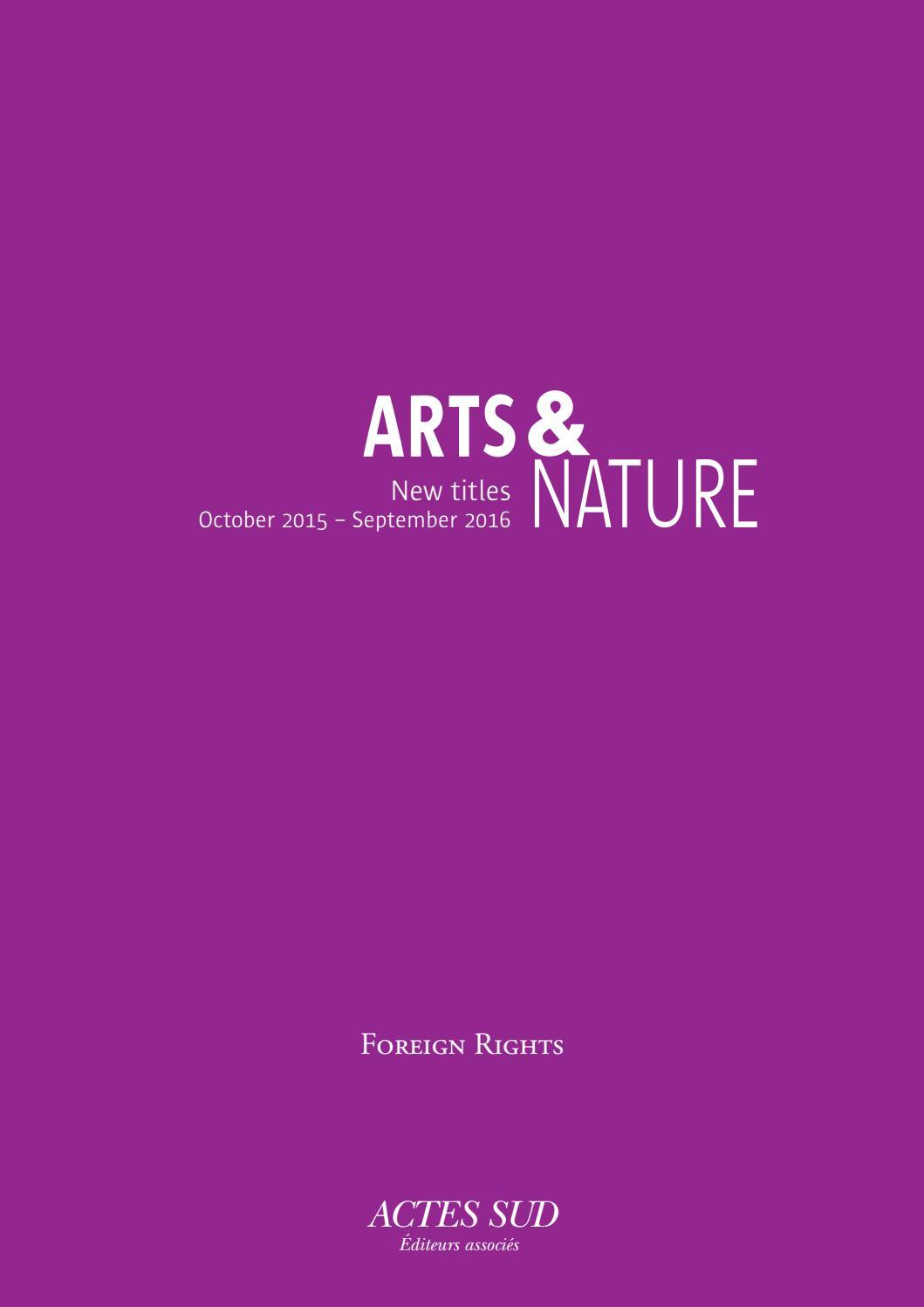 Imprimerie De L Ouest Parisien catalog 2016 arts and nature – foreign rightsactes sud