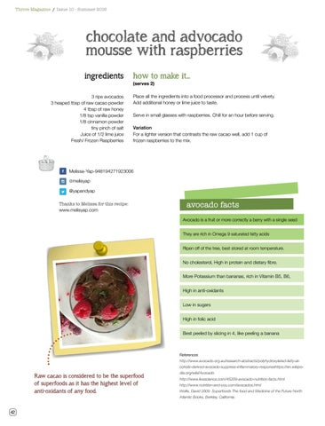 Page 44 of Chocolate and Avocado Mousse with Raspberries
