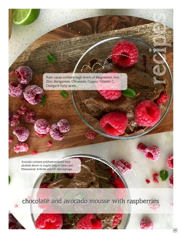 Page 45 of Chocolate and Avocado Mousse with Raspberries