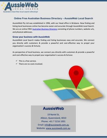 Free local business listing sites australia