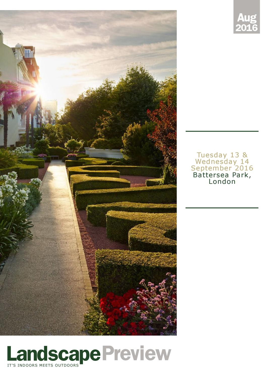 LANDSCAPE Preview August 2016 by LANDSCAPE Show - issuu