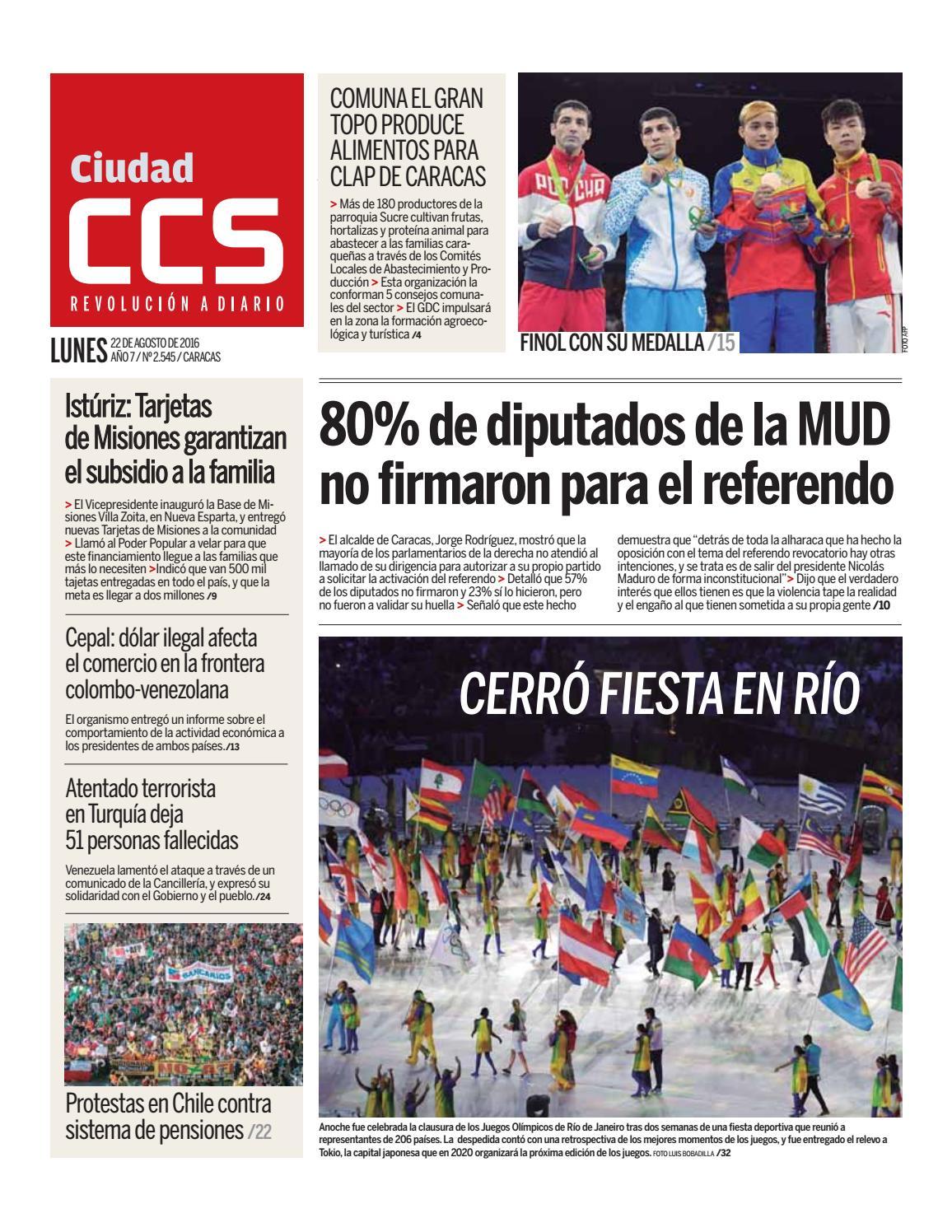 22/08/16 by Ciudad CCS - issuu