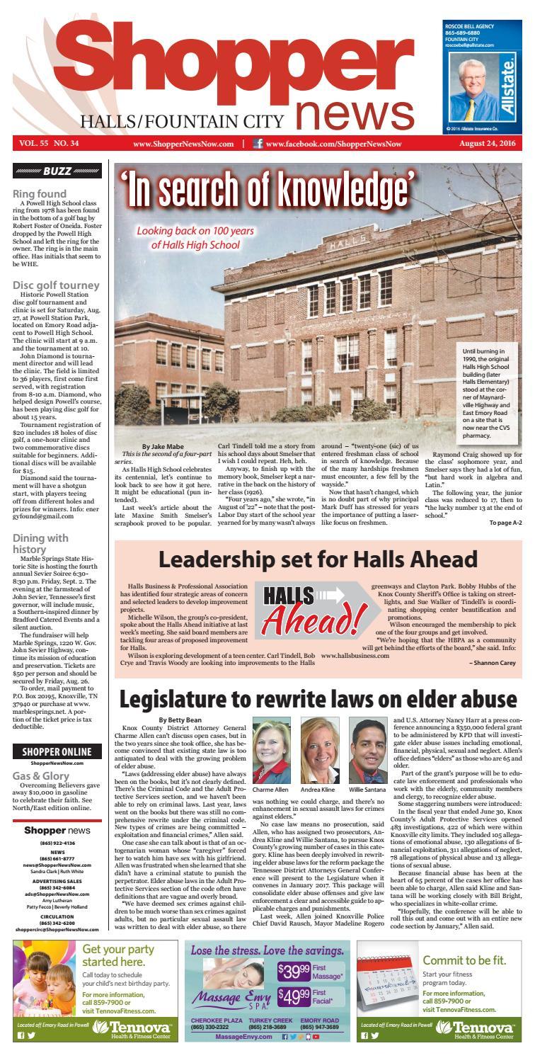 Halls/Fountain City Shopper-News 082416 by Shopper-News - issuu