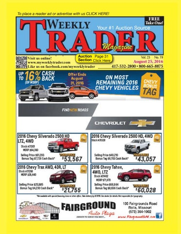 free shipping 4ecc7 1342c Weekly Trader August 25, 2016 by Weekly Trader - issuu