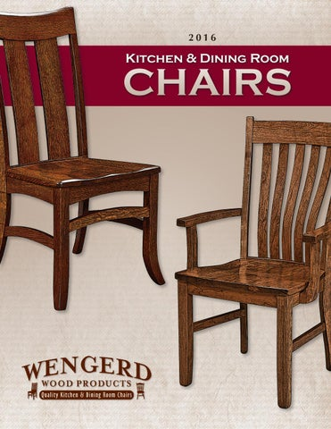 2016 Wengerd Wood Products Catalog / Dining Chairs / E U0026 G Amish ...