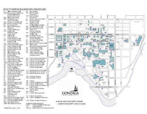 Blue Light Security Campus Map by Gonzaga University issuu