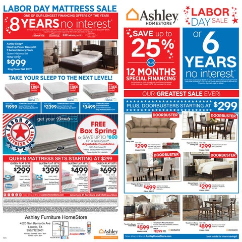 Labor Day Sale By Ashley Furniture Homestore Of Laredo Issuu