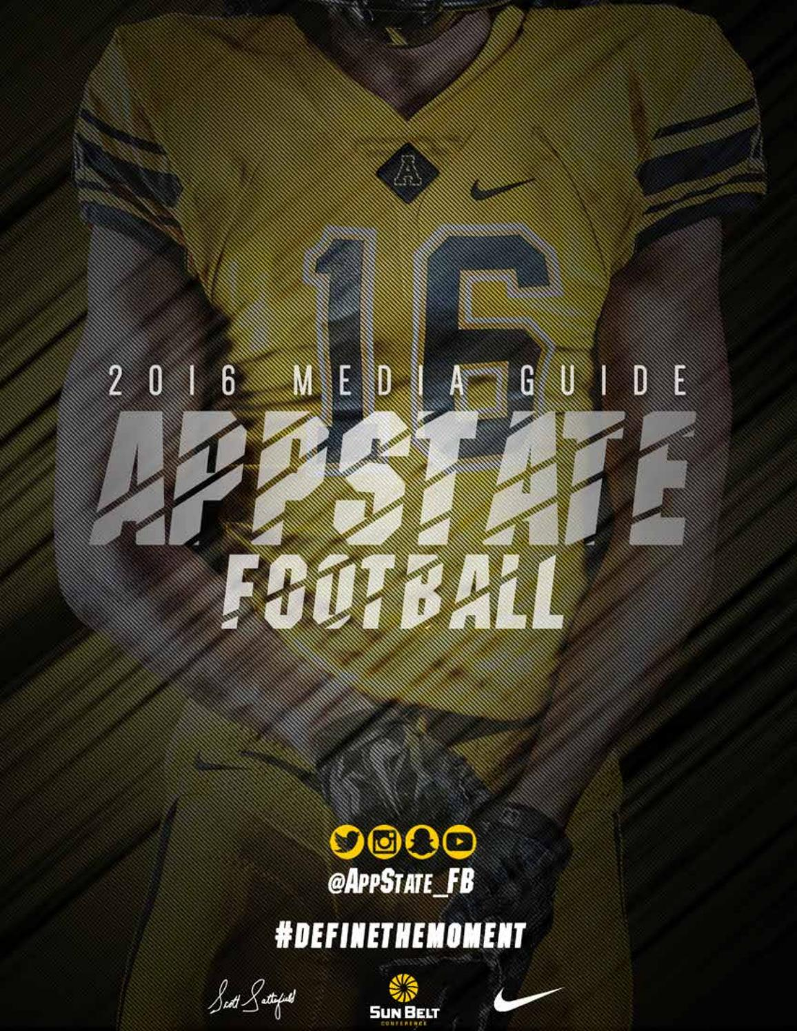 new arrival fe1f7 a9794 2016 football media guide by Appalachian State University Athletics - issuu