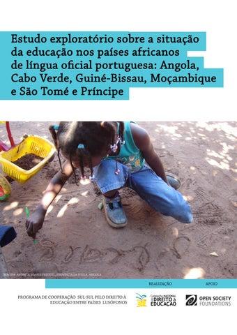 b009a3747082 Estudo exploratório sobre a situação da educação nos países africanos de  língua oficial portuguesa: Angola, Cabo Verde, Guine-Bissau, Moçambique e  São Tomé ...