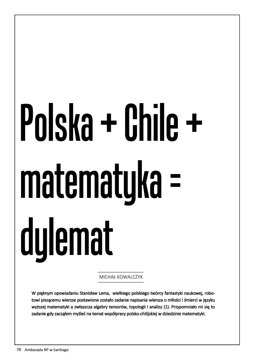 Kreatywność By Embajada De Polonia En Chile Issuu
